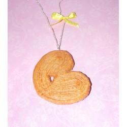 Sautoir biscuit palmier - bijou gourmand