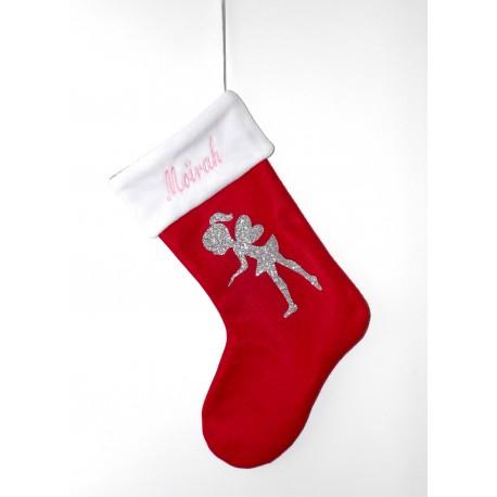 Botte / chaussette de Noël avec une adorable fée