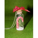 Sautoir fiole enneigée avec sucre d'orge