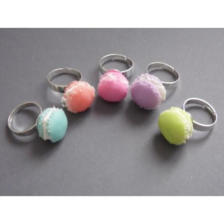 Bague macaron couleurs pastels