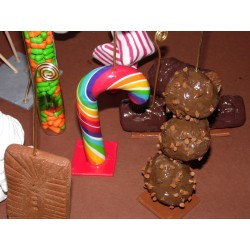 Centre de table thème gourmand gâteau, bonbon
