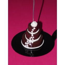 Marque-place Wedding cake pour un mariage, baptême
