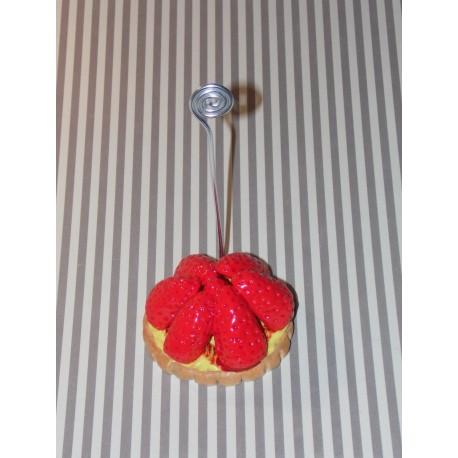 Marque-place tarte aux fraises décoration de table mariage , baptême