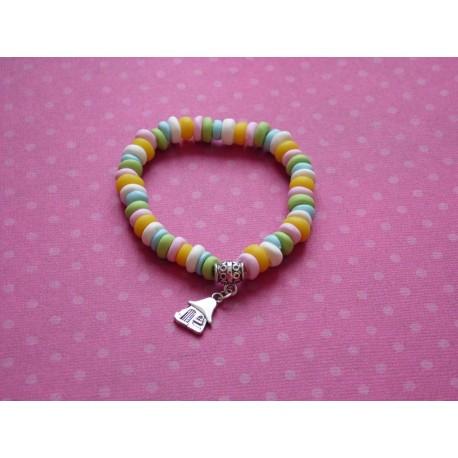 """Bracelet élastique """" Bonbons à croquer """""""