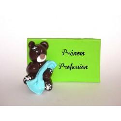 """Badge personnalisé pour infirmière, aide-soignante """" Petit ourson"""""""