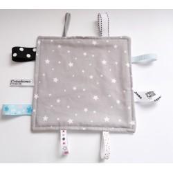 Doudou étiquettes pour bébé imprimé d'étoiles