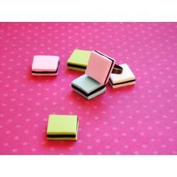 Bague bonbon réglisse carré couleurs aux choix