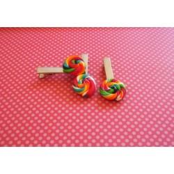 Barrettes sucettes lollipops X2