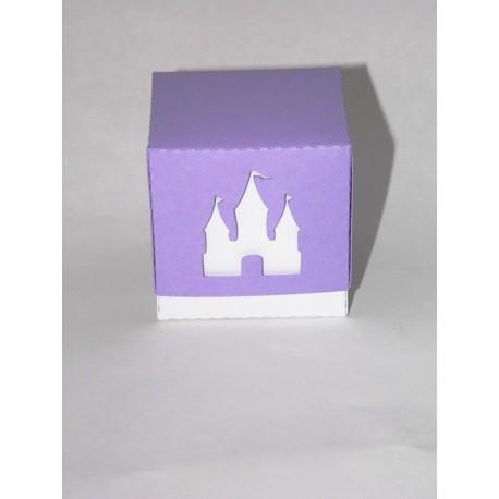 """Boîte dragée carrée thème """"Princesse"""" baptême"""