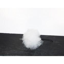 Epingles à chignon pompon x2 tulle blanc- Accessoire coiffure mariée