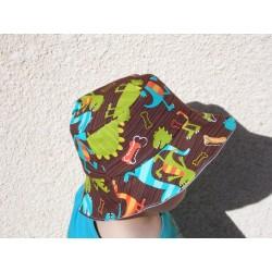 Bob enfant imprimé de dinosaures multicolores rigolos